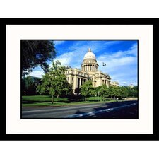 <strong>Great American Picture</strong> State Capitol in Boise Idaho Framed Photograph - Mark Gibson