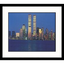 Cityscapes Twin Towers Framed Photographic Print