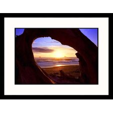 <strong>Great American Picture</strong> Rialto Beach Sunset Framed Photograph - Russell Burden