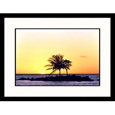 Tropical Sunset Framed Photograph - Prisma Dia