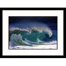 Ocean Wave Framed Photograph - Ron Romanosky