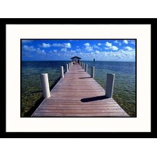 Seascapes 'Cheeca Lodge Pier, Florida' by Carl and Ann Purcell Framed Photographic Print