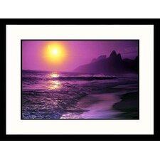 Seascapes 'Rio de Janeiro Sunset' by Douglas Pulsipher Framed Photographic Print