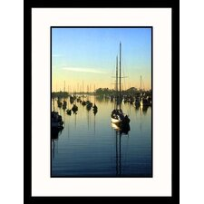 Seascapes 'Boats at Newport Beach, California' by Doug Page Framed Photographic Print