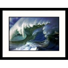 Seascapes 'Ocean Wave I' by Hank Fotos Framed Photographic Print