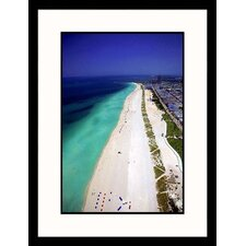 <strong>Great American Picture</strong> View Along South Beach, Florida Framed Photograph - Scott Smith