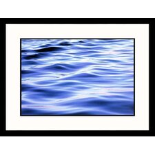 Soft Water Waves Framed Photograph