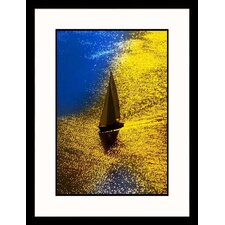 Sailboat On Sunny Day Framed Photograph - Ewing Galloway