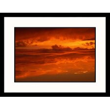 Sunset Over Seascape Framed Photograph - Frank Siteman