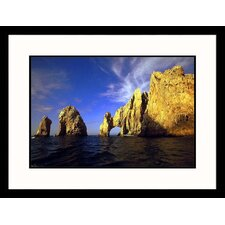 Seascapes 'Rock Formations, Mexico' by Walter Bibikow Framed Photographic Print