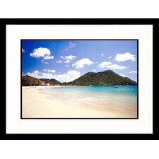 <strong>Great American Picture</strong> A Tropical Beach Framed Photograph