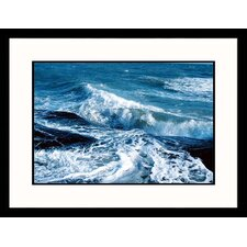 <strong>Great American Picture</strong> Crashing Waves Framed Photograph