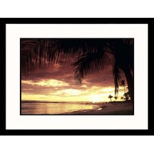 <strong>Great American Picture</strong> Hawaii Sunset Framed Photograph - Elfi Kluck