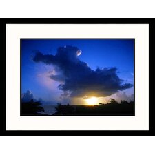 Cloud Over Ocean at Sunset Framed Photograph