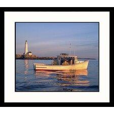 Seascapes Boston Light Framed Photographic Print