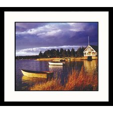 Seascapes Dock in Light Framed Photographic Print