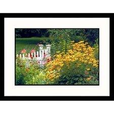 <strong>Great American Picture</strong> Garden and Fence Framed Photograph