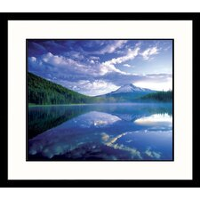 Landscapes 'Mt. Hood-Trillium Lake' by Adam Jones Framed Photographic Print