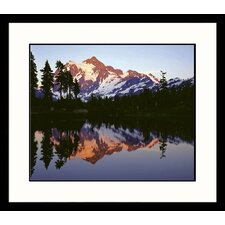 <strong>Great American Picture</strong> Mt. Shuskan Mirror Framed Photograph - Adam Jones