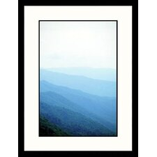 Landscapes 'Fog Over Great Smokey Mounatins,Tennessee' by Eric Kamp Framed Photographic Print