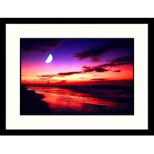 <strong>Great American Picture</strong> Sunrise and Moon, Las Palmas Island, South Carolina Framed Photograph