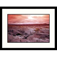 Landscapes 'Storm Over Badlands National Park, South Dakota' by Allen Russell Framed Photographic Print
