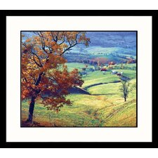 <strong>Great American Picture</strong> Blue Grass Valley Virgina Framed Photograph