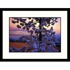 Landscapes 'Lake Tahoe Sunset and Snow, California' by Wayne Hoy Framed Photographic Print