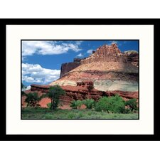 Landscapes 'The Castle-Capitol Reef National Park, Utah' by David Carriere Framed Photographic Print
