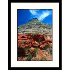 <strong>Great American Picture</strong> Checkerboard Mesa, Zion National Park, Utah Framed Photograph - David Carriere