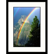 Double Rainbow Over Half Dome Framed Photograph - Russell Burden