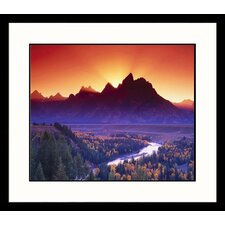 <strong>Great American Picture</strong> Grand Teton Glory Framed Photograph - Russell Burden