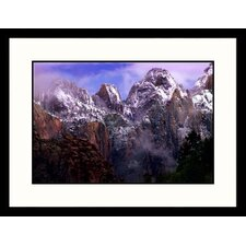 <strong>Great American Picture</strong> Clearing Winter Storm Zion National Park, Utah Framed Photograph - Russell Burden