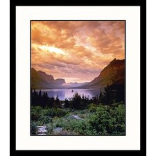 Landscapes 'Glacier Park, Mountain' by Donald Higgs Framed Photographic Print