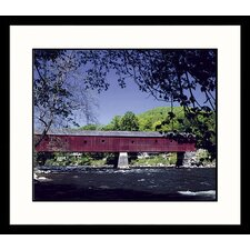 <strong>Great American Picture</strong> Covered Bridge New England Framed Photograph