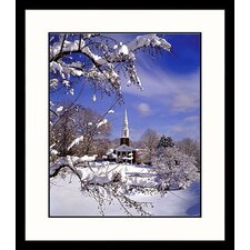 <strong>Great American Picture</strong> Northeast Winter Framed Photograph