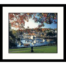 <strong>Great American Picture</strong> Boats in Camden ME Framed Photograph