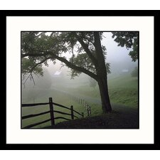 Landscapes Farm and Fog Framed Photographic Print