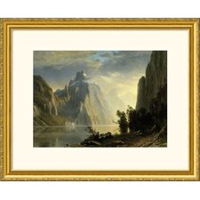 Museum Reproductions 'A Lake in the Sierra Nevada' by Albert Bierstadt Framed Photographic Print
