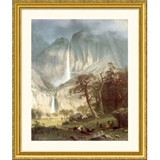 <strong>Great American Picture</strong> Cho-Looke, The Yosemite Fall Gold Framed Print - Albert Bierstadt