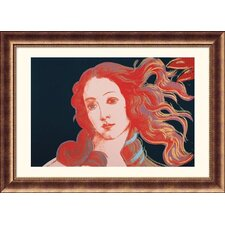 Details of Renaissance Paintings (Sandro Botticelli, Birth of Venus, 1482), 1984 Bronze Framed Print - Andy Warhol