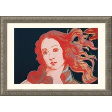 Details of Renaissance Paintings (Sandro Botticelli, Birth of Venus, 1482), 1984 Silver Framed Print - Andy Warhol