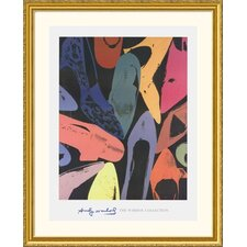 Museum Reproductions 'Diamond Dust Shoes, 1980' by Andy Warhol Framed Photographic Print