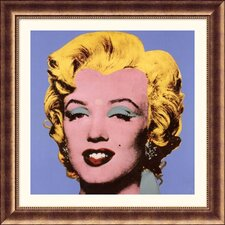 Shot Blue Marilyn, 1964 Bronze Framed Print  - Andy Warhol