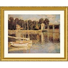 Bridge at Argenteuil Gold Framed Print - Claude Monet