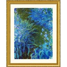 Museum Reproductions 'Iris' by Claude Monet Framed Photographic Print