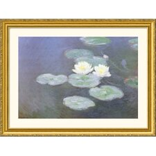 Museum Reproductions 'Nympheas Effet Du Soir (Water Lilies in the Evening)' by Claude Monet Framed Photographic Print