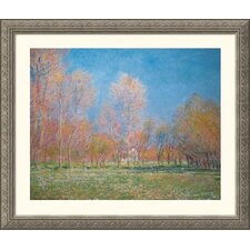 <strong>Great American Picture</strong> Spring in Giverny, 1890  Silver Framed Print - Claude Monet