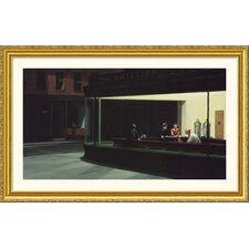 Nighthawks Gold Framed Print - Edward Hopper
