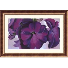 <strong>Great American Picture</strong> Petunias, 1925 Bronze Framed Print - Georgia O'Keeffe